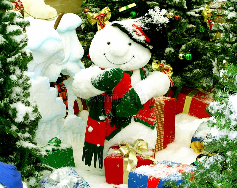 Download Pupazzo di neve allegro immagine stock. Immagine di natale - 7322603
