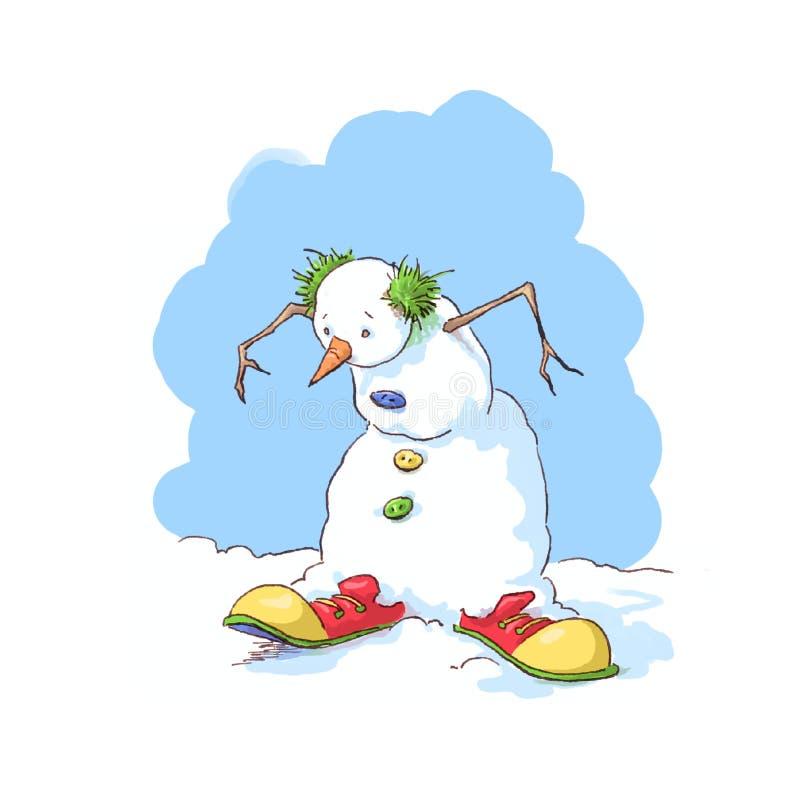 Pupazzo di neve del pagliaccio fotografia stock