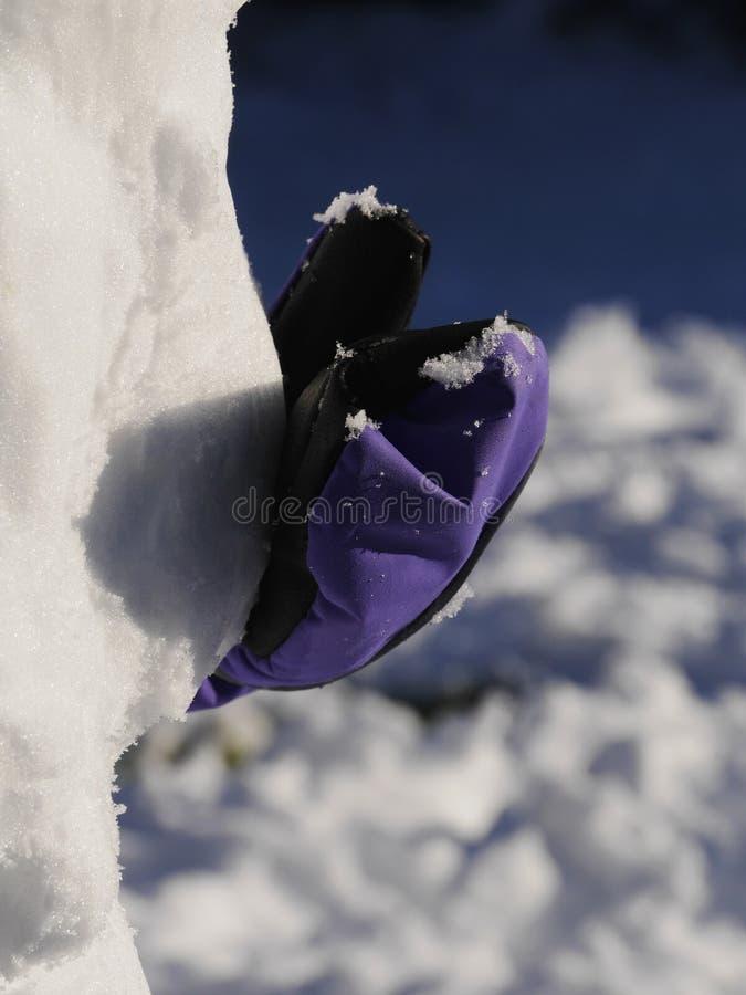 Pupazzo di neve della costruzione fotografia stock