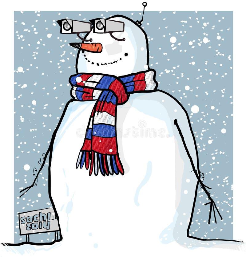 Pupazzo di neve della spia di Soci royalty illustrazione gratis