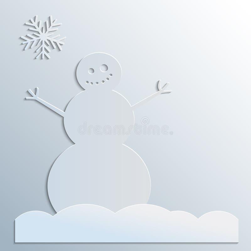 Pupazzo di neve di carta royalty illustrazione gratis