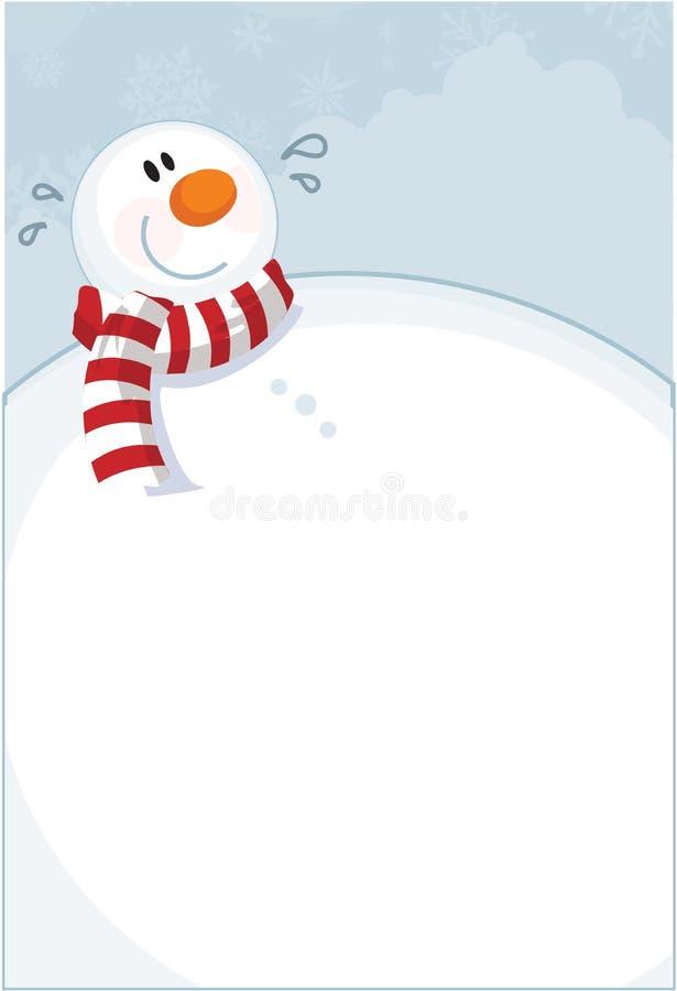 Pupazzo di neve di inverno illustrazione vettoriale