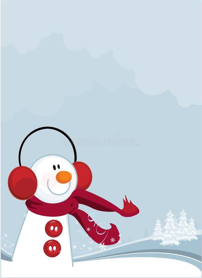 Pupazzo di neve di inverno royalty illustrazione gratis