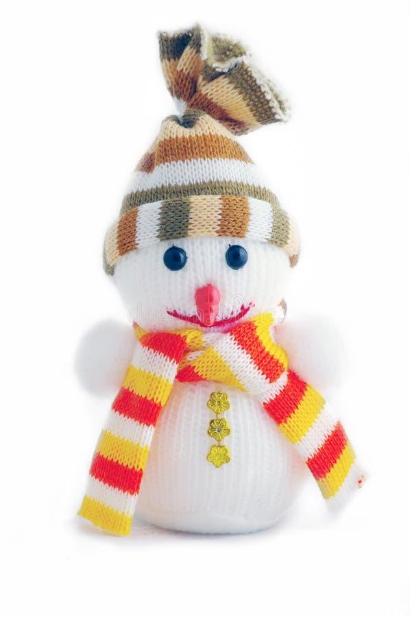 Pupazzo di neve di natale fotografia stock libera da diritti