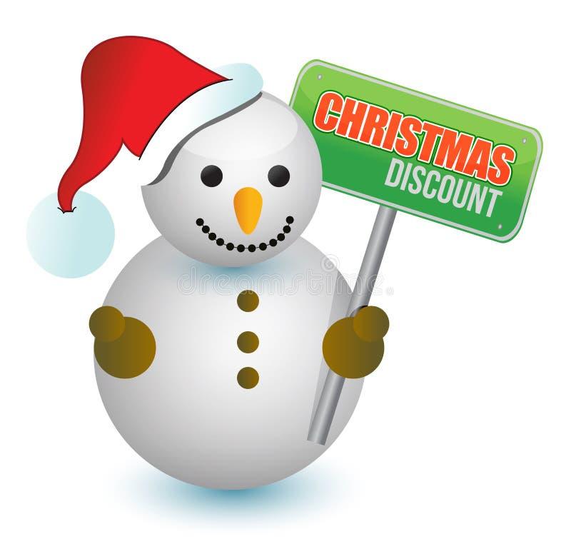 Pupazzo di neve di sconto di Natale royalty illustrazione gratis