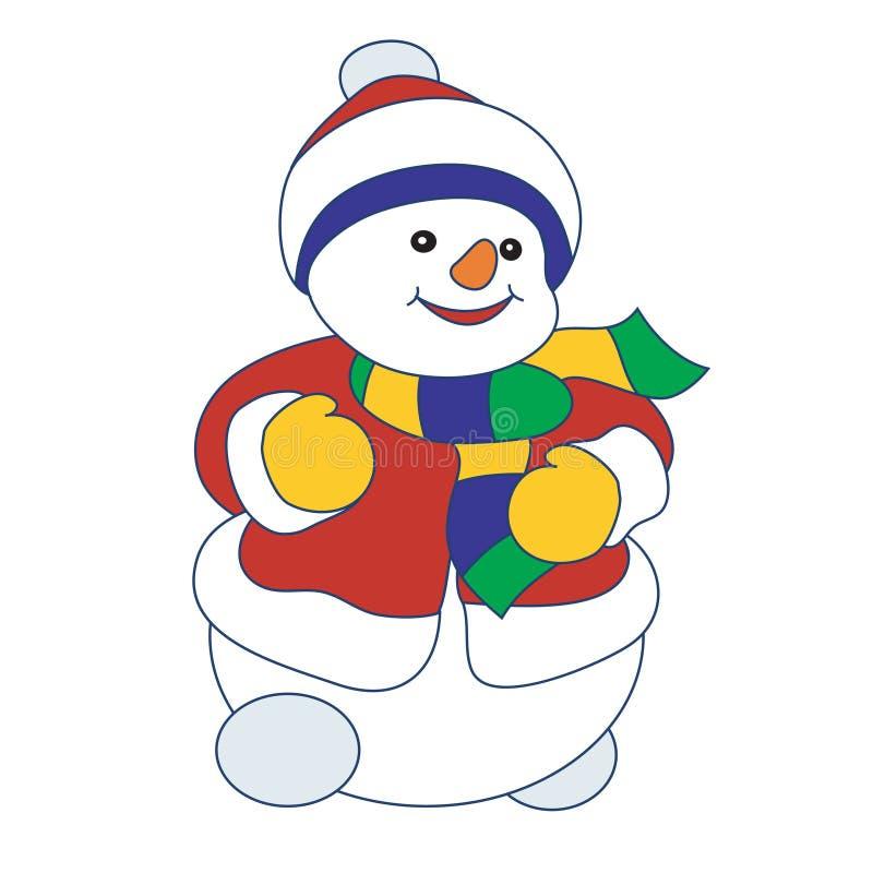 Download Pupazzo di neve di vettore illustrazione vettoriale. Illustrazione di fumetto - 3892895