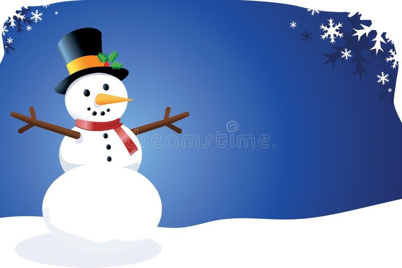 Pupazzo di neve di vettore royalty illustrazione gratis