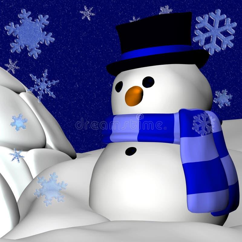 Pupazzo di neve ed iglù illustrazione di stock