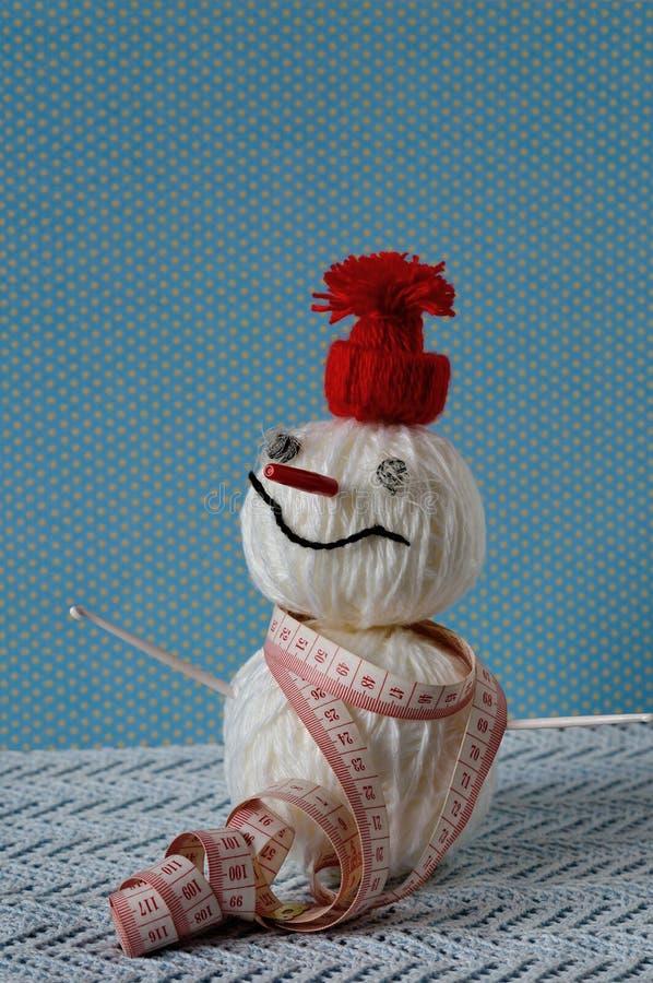 Pupazzo di neve fatto a mano immagini stock