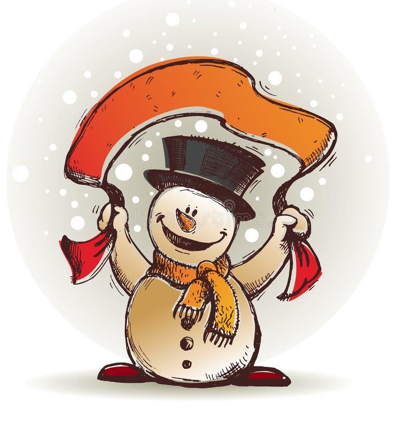 Pupazzo di neve felice royalty illustrazione gratis