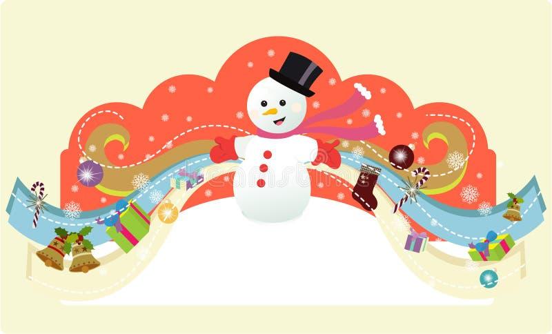 Pupazzo di neve magico royalty illustrazione gratis