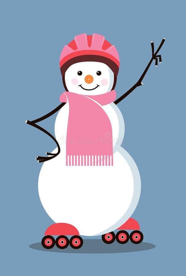 Pupazzo di neve-rullo illustrazione vettoriale