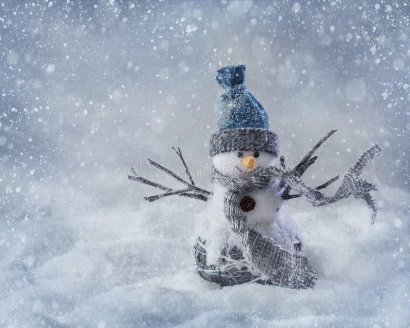 Pupazzo di neve sorridente fotografie stock libere da diritti