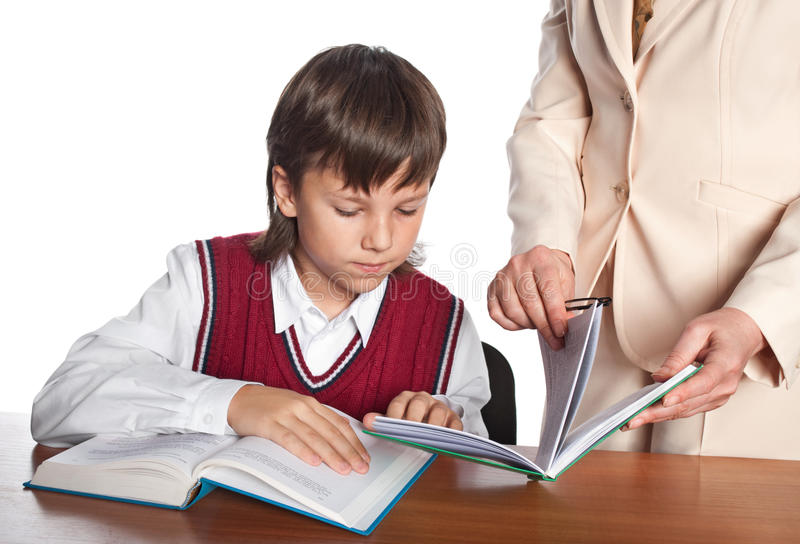 Download The pupil stock image. Image of learn, young, serious - 17721911