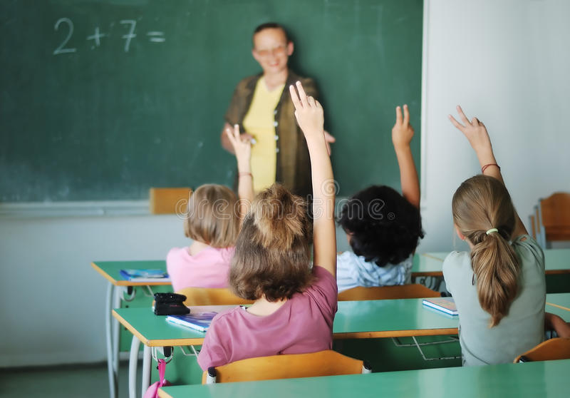 Pupil Activities In The Classroom Stock Photos