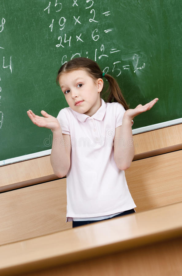 Pupil doesn't know the answer royalty free stock photography