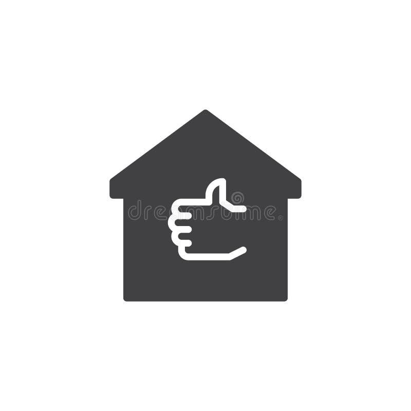 Pupil Domowa wektorowa ikona ilustracji