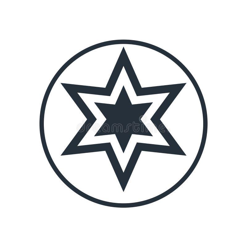 Pupil ikony wektoru gwiazdowy znak i symbol odizolowywający na białym tle, pupila logo gwiazdowy pojęcie ilustracja wektor