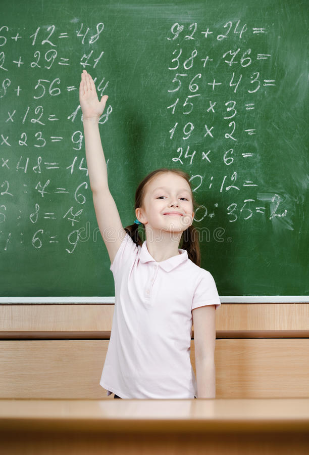 Pupil Knows The Answer Stock Photos
