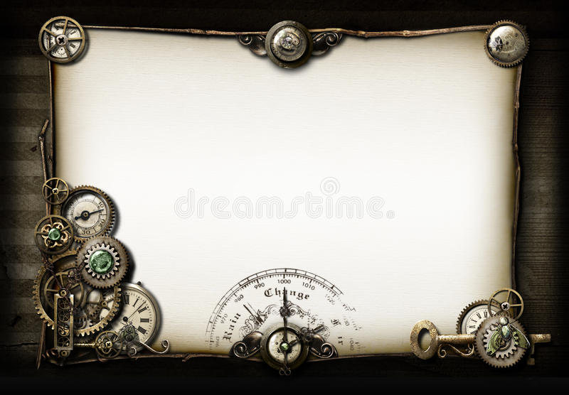 pupil steampunk mój rzeczy ilustracji