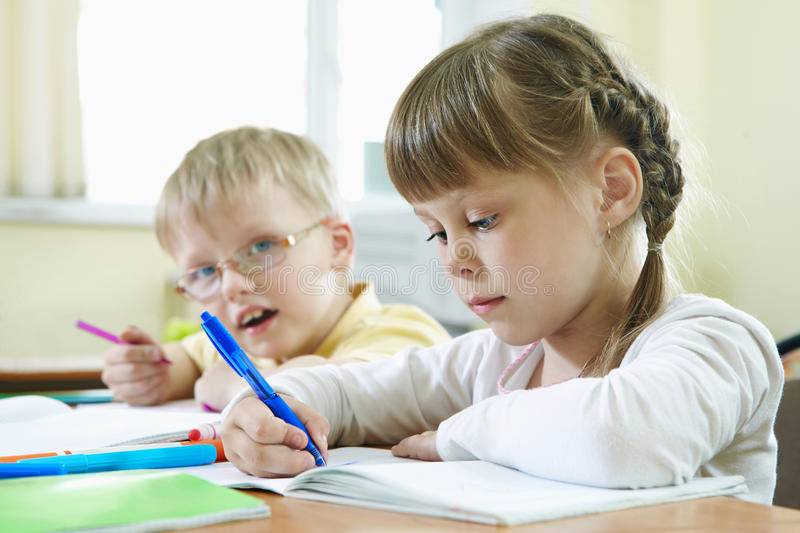 Download Pupils at lesson stock image. Image of education, modern - 23039679