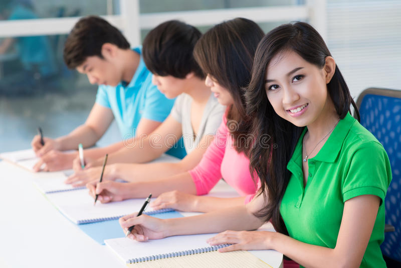 Download Pupils at lesson stock image. Image of asian, adolescence - 27134769