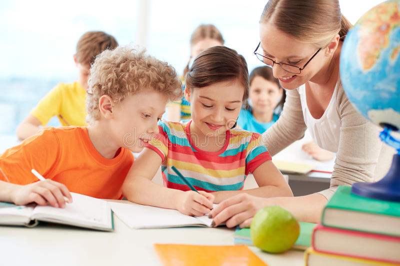 Download Pupils at lesson stock photo. Image of education, people - 33657672