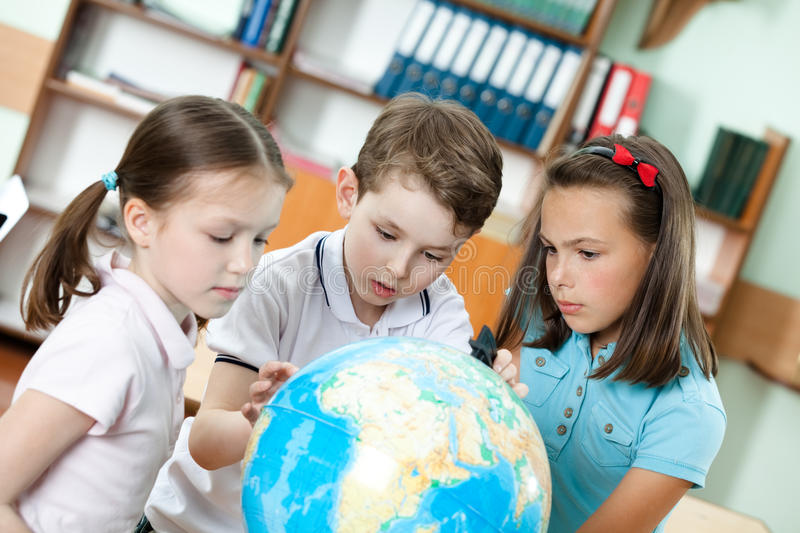 Pupils are seeking for something royalty free stock images