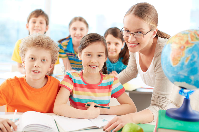 Pupils And Teacher Royalty Free Stock Photo