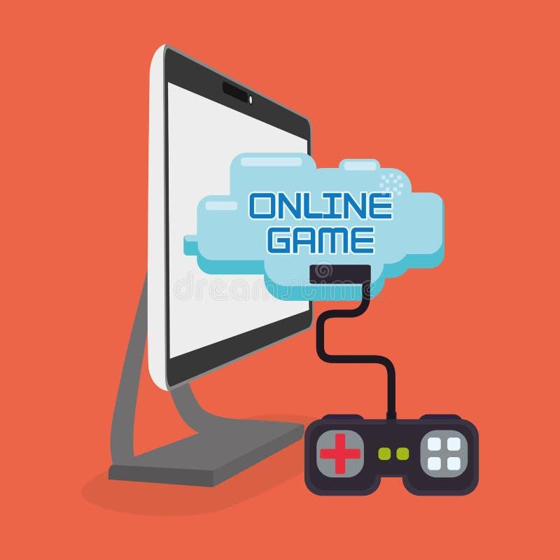 Pupitre de commande de jeu de jeu sur Internet illustration libre de droits