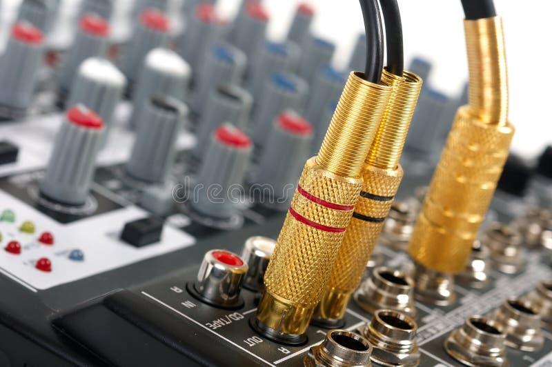 Pupitre de commande sonore photographie stock