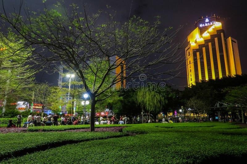 Puplicpark onderaan Stad Shenzhen, Zuid-China stock foto