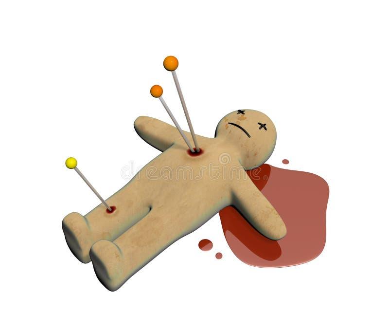 Puppe des Voodoo 3d lizenzfreie abbildung