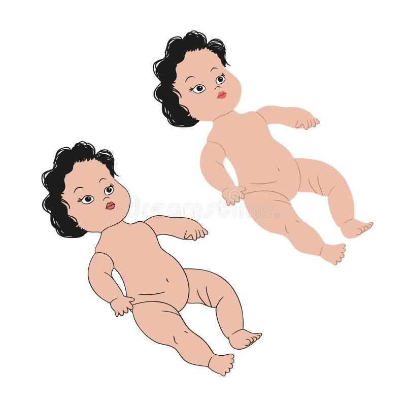 Puppe ohne Kleidung lizenzfreie stockfotos