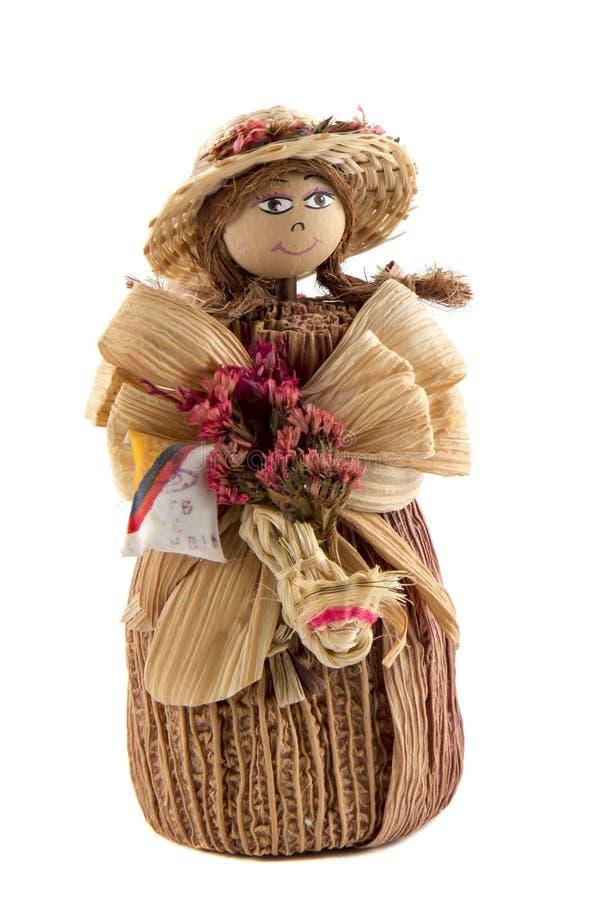 Puppe von den Maisblättern lizenzfreie stockfotografie