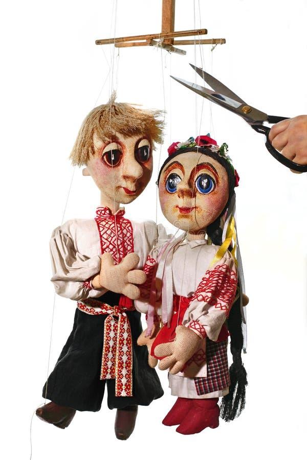 Puppen stockfoto