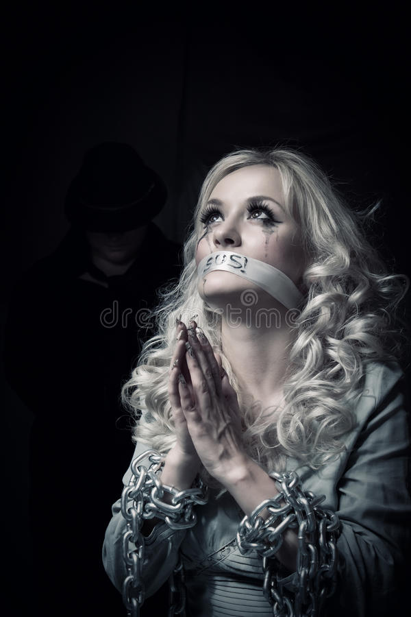 Free Puppet And Her Cruel Master Stock Photography - 25645032