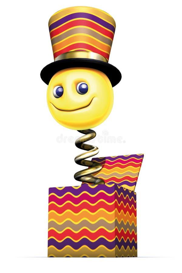 Puppet Box Smile Stock Image