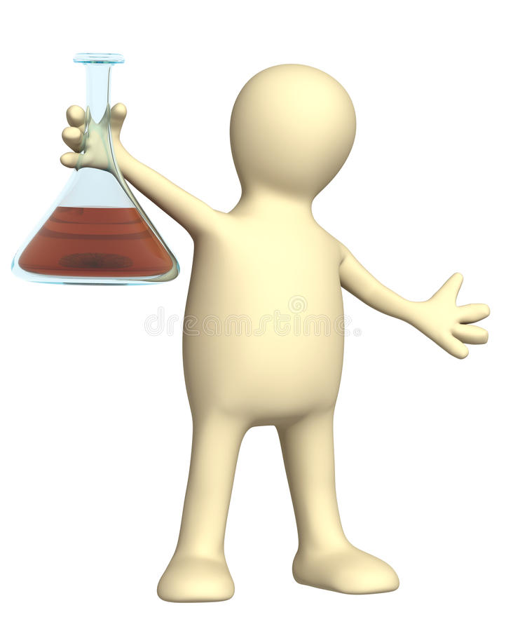 Download Puppet With Chemical Reagent Stock Image - Image: 20801721