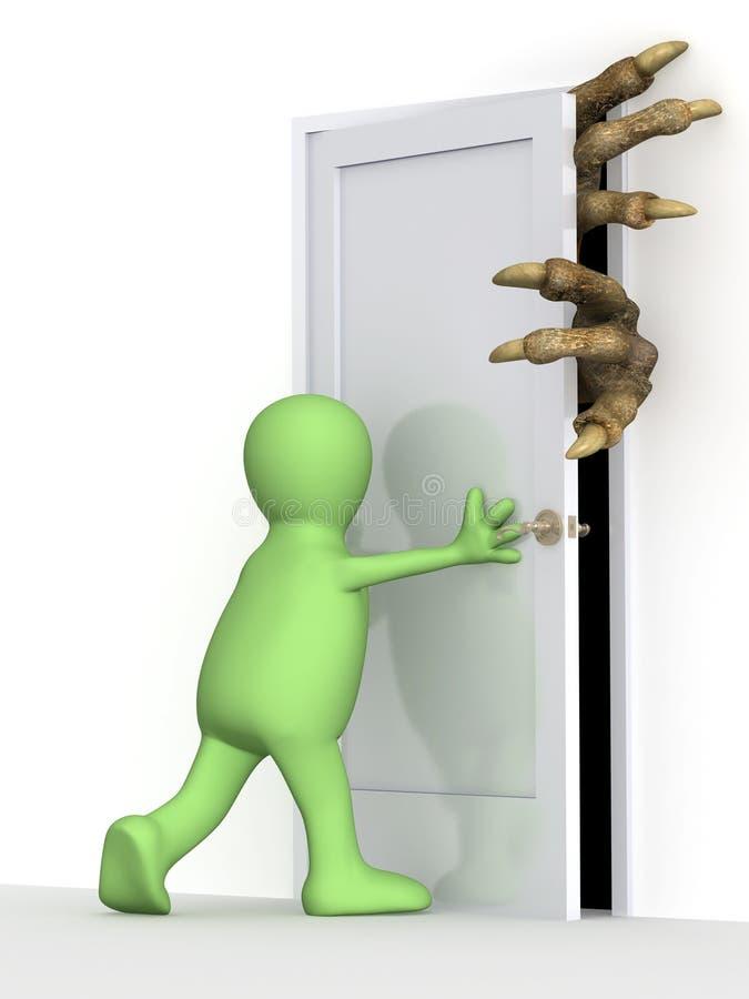 Download Puppet closing a door stock illustration. Image of gate - 8603557  sc 1 st  Dreamstime.com & Puppet closing a door stock illustration. Image of gate - 8603557 pezcame.com