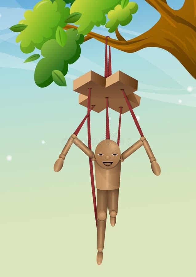 Puppet di legno, illustrazione royalty illustrazione gratis