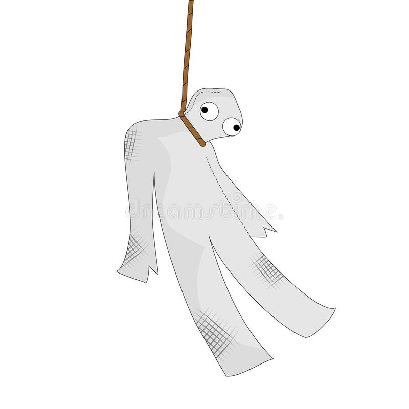 Puppet died stock illustration