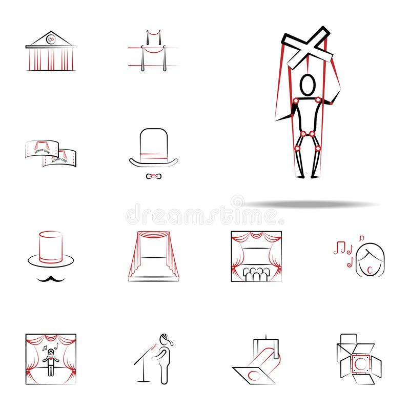 puppet icon. handdraw icons universal set for web and mobile stock illustration