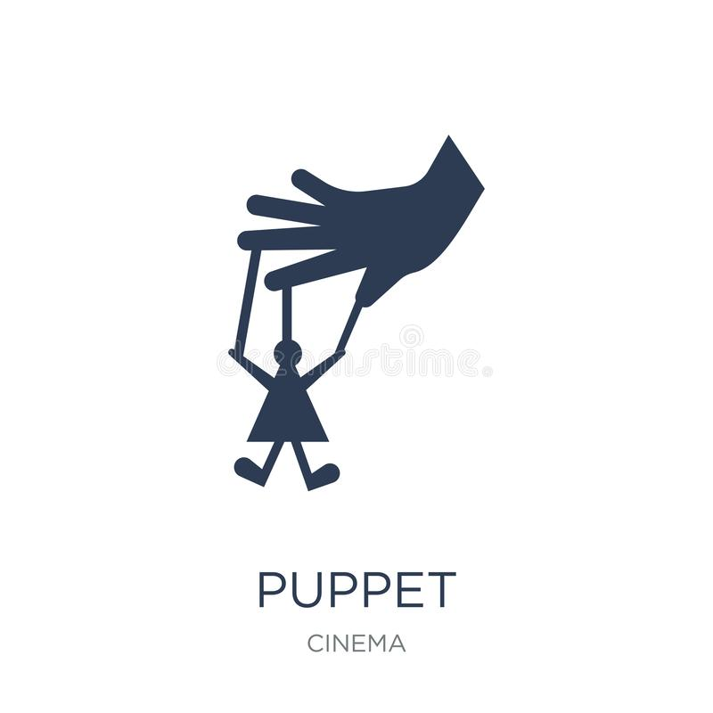 Puppet icon. Trendy flat vector Puppet icon on white background royalty free illustration