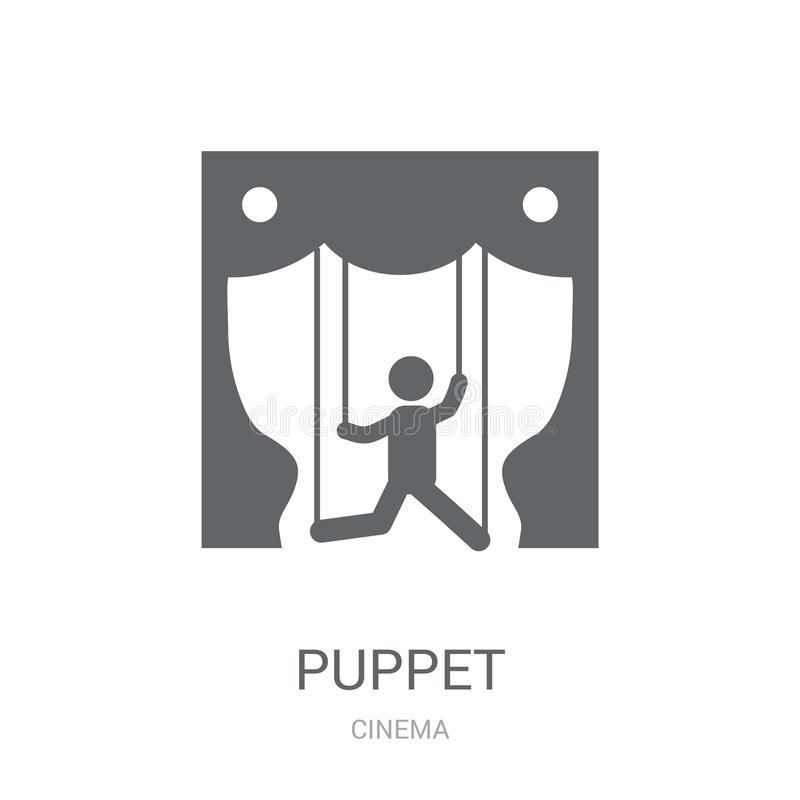 Puppet icon. Trendy Puppet logo concept on white background from stock illustration
