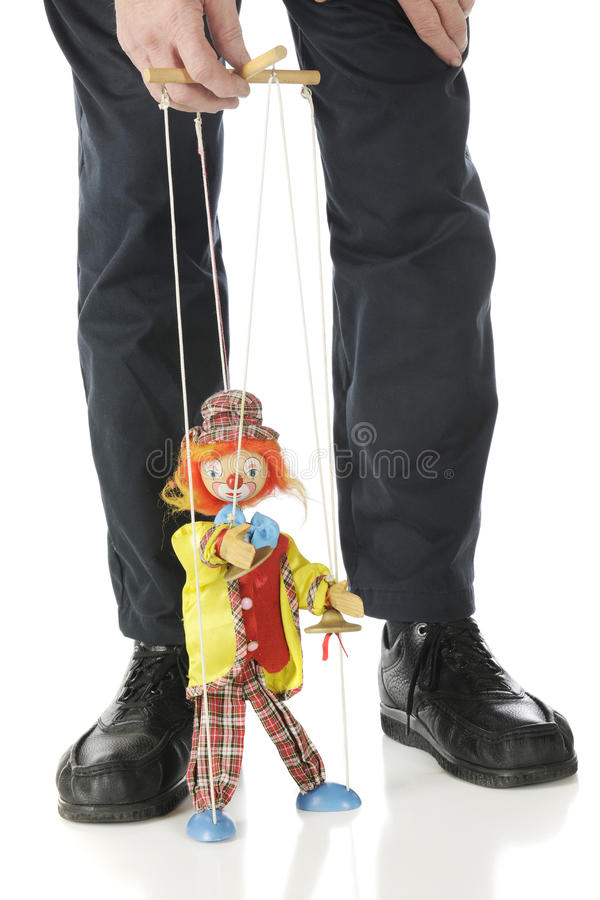 Puppet and Master stock images
