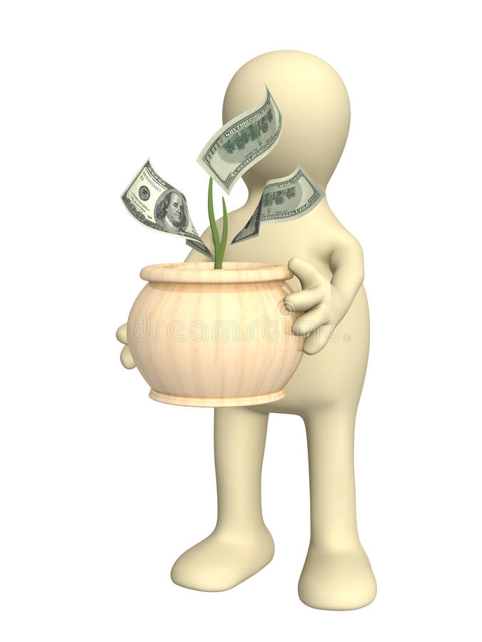 Download Puppet with monetary tree stock illustration. Image of incentive - 13637756