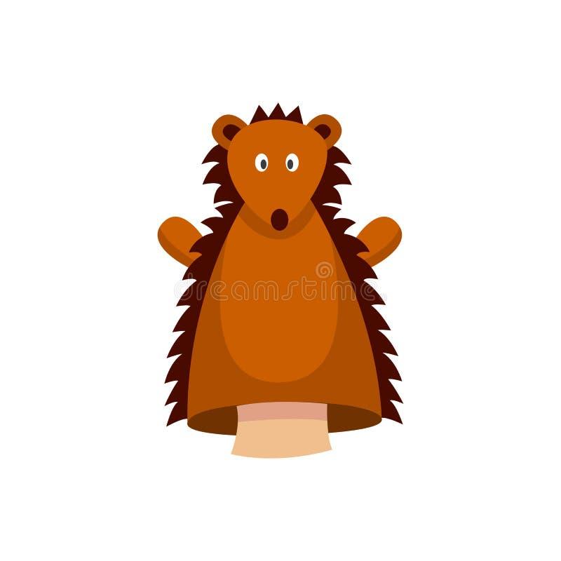 Puppet ombelico di riccio di colore marrone, isolato su fondo bianco royalty illustrazione gratis
