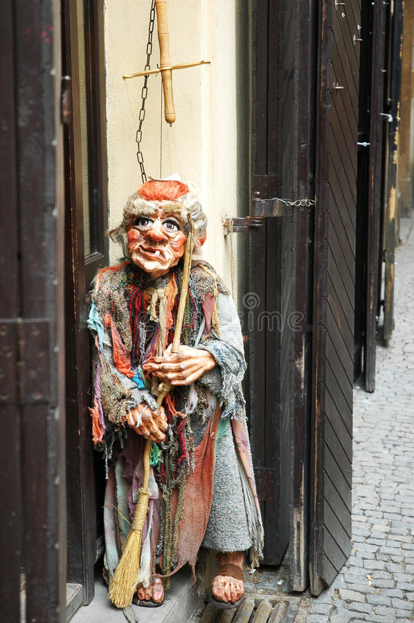 Puppet in Prague royalty free stock photography