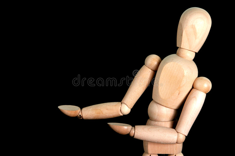 A Puppet Presenting Something Stock Photos